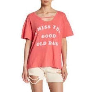 Wildfox Good Old Days Graphic Print Shirt